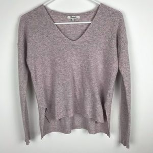 Madewell XS Hi Low Sweater Merino Wool V Neck